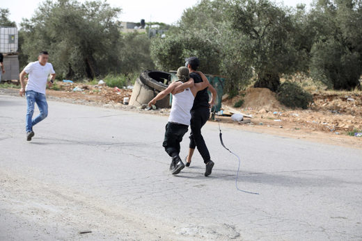 wounded west bank protester israel