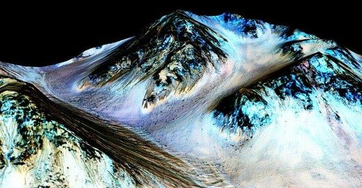 mars water mountain