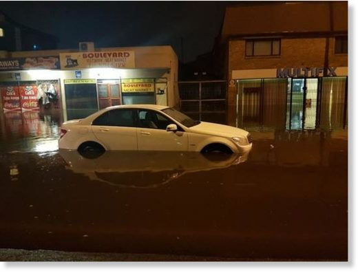 Flooding in Cape Town.