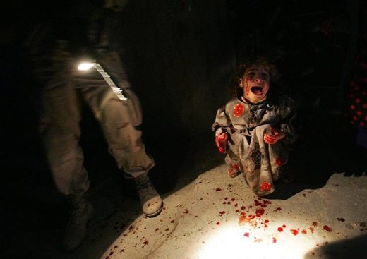 Iraq war child scream