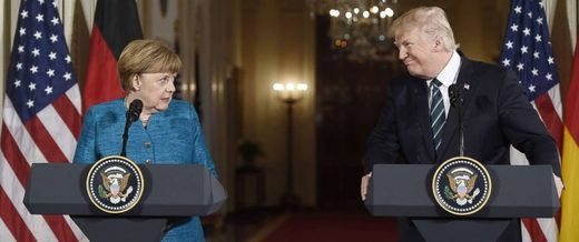 Merkel Trump Washington