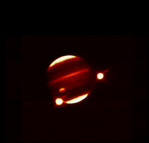 Infrared image of Jupiter after Levy impact