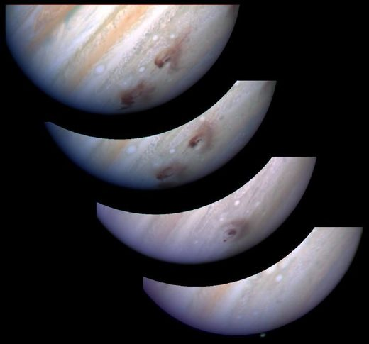 Time-lapse sequence of Jupiter Scar