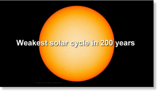 weak solar cycle