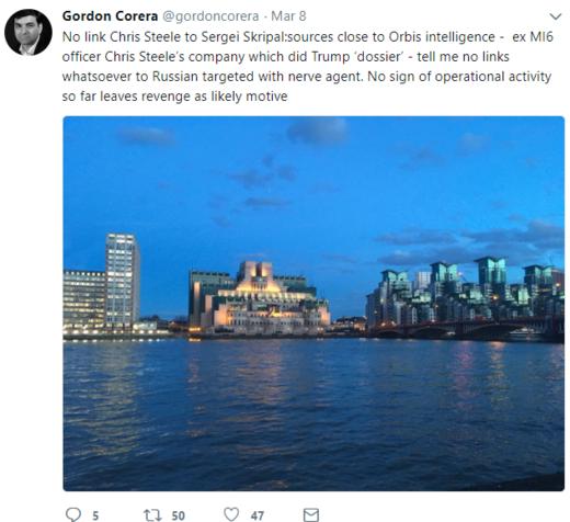 Gordon Corera tweet