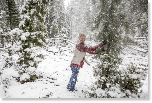 Mount Charleston sees rare May snowfall