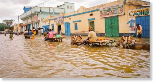 Somalia has been hit with a flood