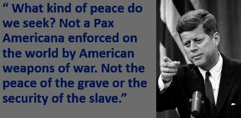 jfk peace quote