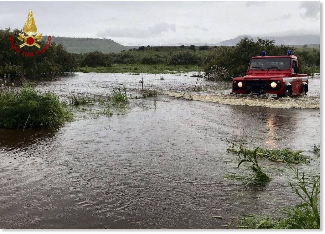 Heavy rainfall for May causes flooding in Sardinia, Italy ...
