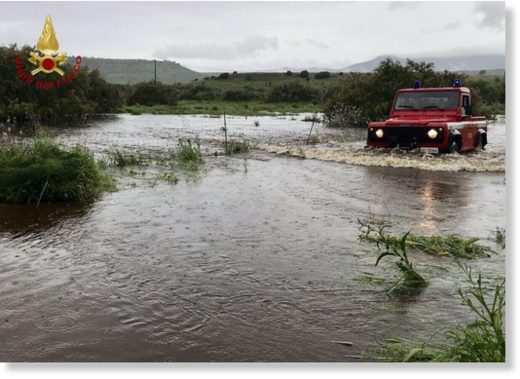 Floods in Nuoro Province, Sardinia, 02 May 2018
