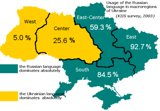 Russian language speakers Ukraine
