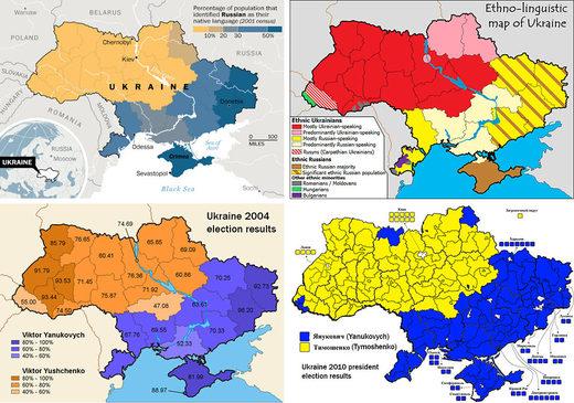 map modern ukraine