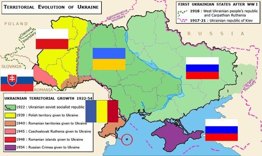 territorial evolution ukraine 1922-54