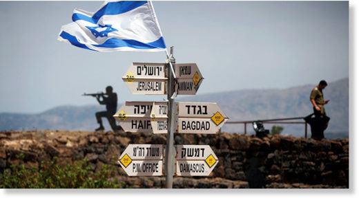 Israeli flag golan