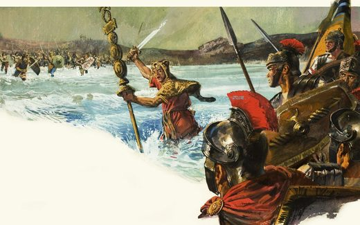 Unidentified Roman legions invade Britain