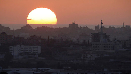 sunset Gaza Strip