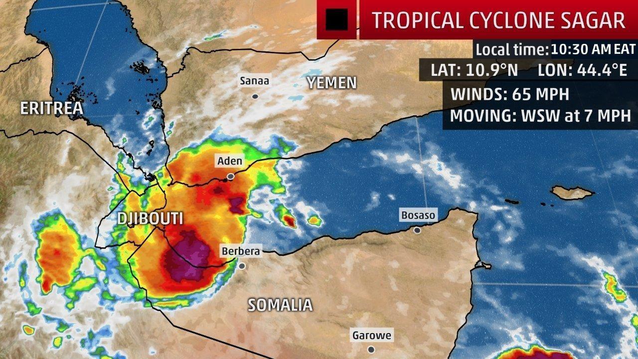 rare cyclone in gulf of aden brings flooding to yemen somalia
