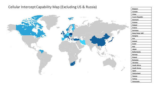 cellular intercept capability map