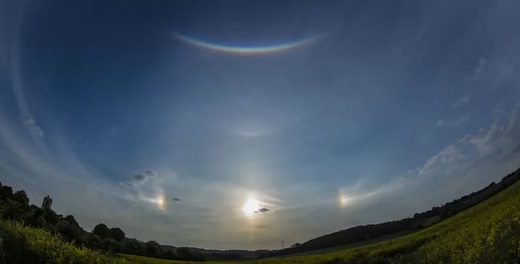 Sun dogs over Derbyshire