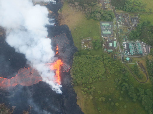 Kilauea's fiery flow threatening a significant source of Hawaii's power supply