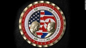 trump commemorative coin north korea