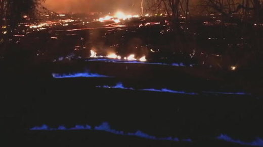 kilaeua methane blue flame hawaii