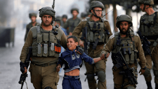 Israeli soldiers Palestinian child