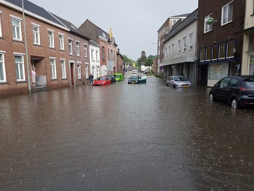 flooded street holland