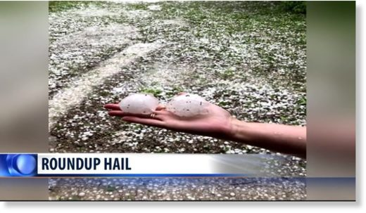 Hail pounds Roundup