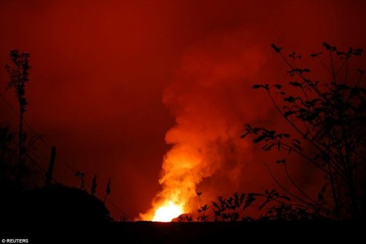 Hawaii volcano eruption 1