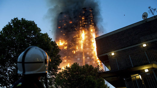 The Grenfell fire.