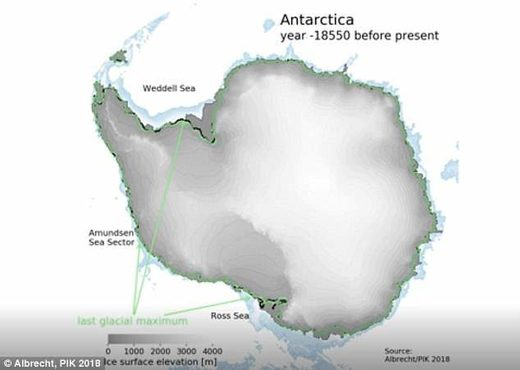 Antarctica looked at 18,550 years ago
