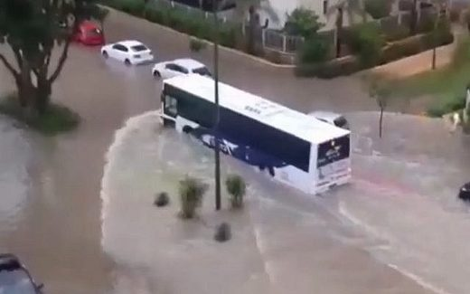 Flooding in Sderot, Israel