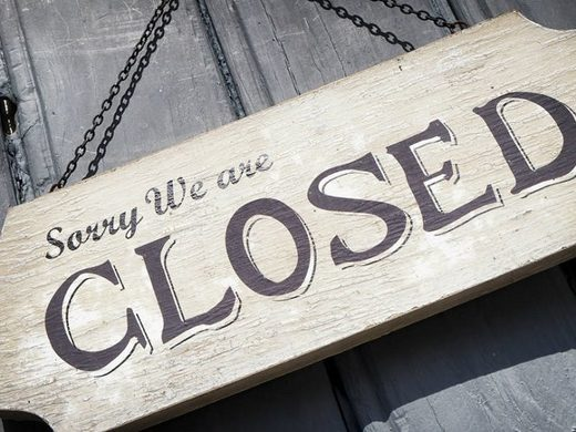 closed sign business