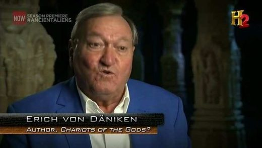"Erich von Däniken, star of ""Ancient Aliens,"" claims in newspaper interview that the media won't report ancient astronaut and UFO evidence"