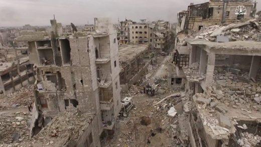 aleppo ruins drone
