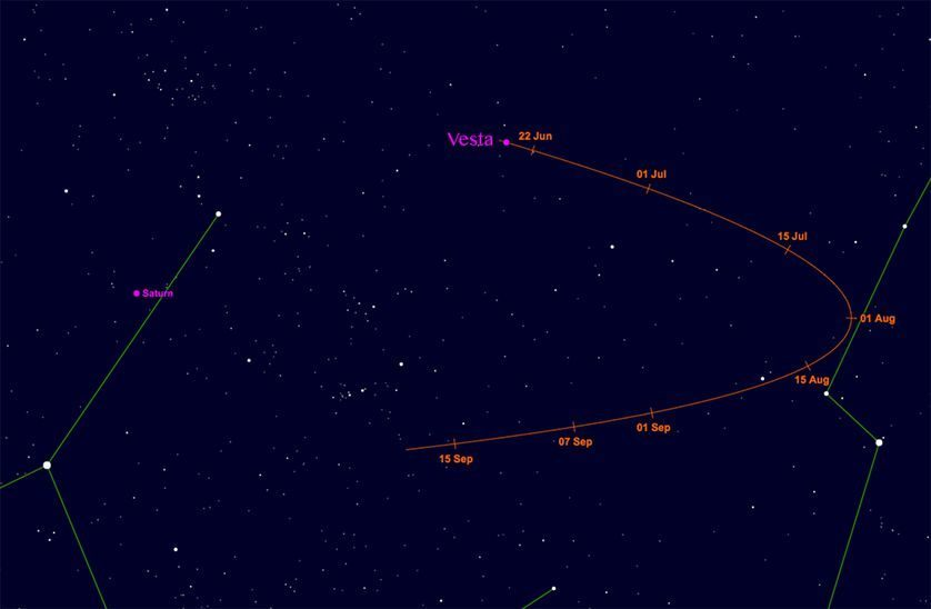 Asteroid Vesta, with a 13-mile-high mountain now visible ...
