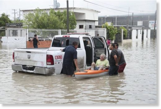 Flood rescues in Tamaulipas Mexico, June 2018.