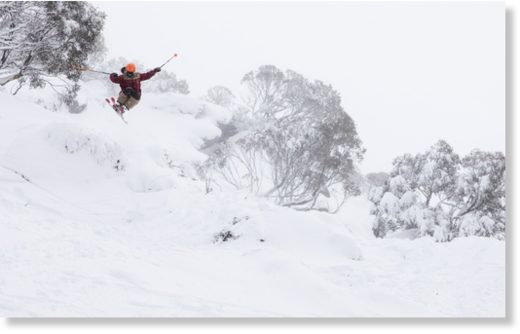 It's the first week of the ski season in Australia and skiers and snowboarders are already enjoying powder days
