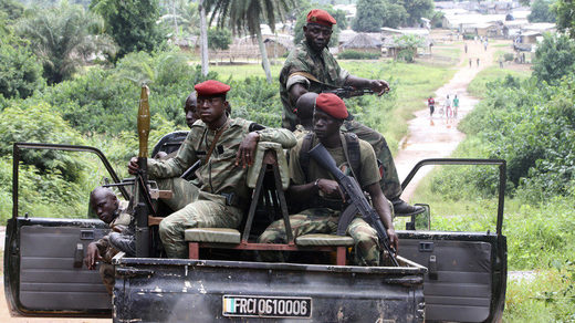 African soldiers