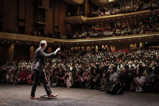 Jordan Peterson speaks to an audience of nearly 3,000 in Portland on June 25, 2018
