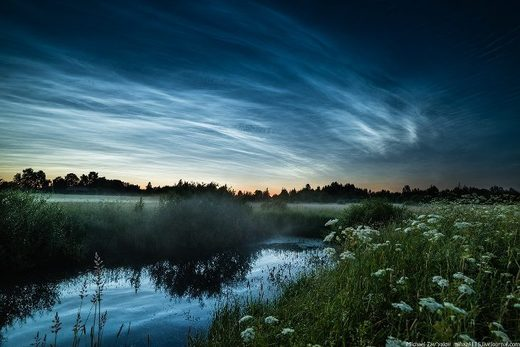 noctilucent clouds russia