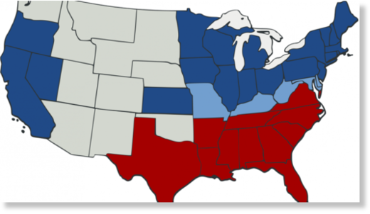red states / blue states