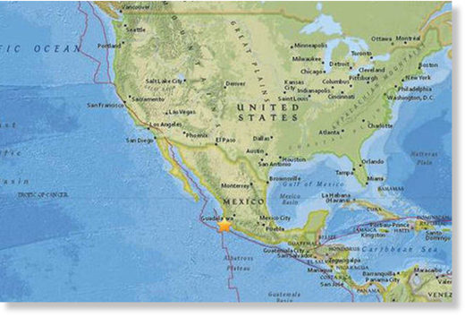 A 6.1 magnitude earthquake has struck off the coast of Mexico