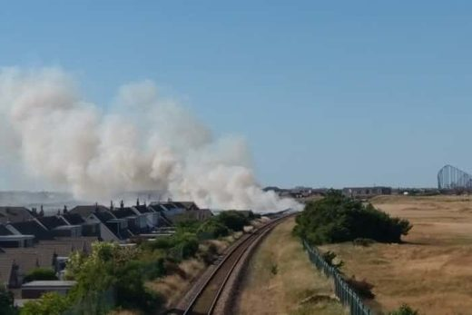 Major fire on the dunes at St Annes.