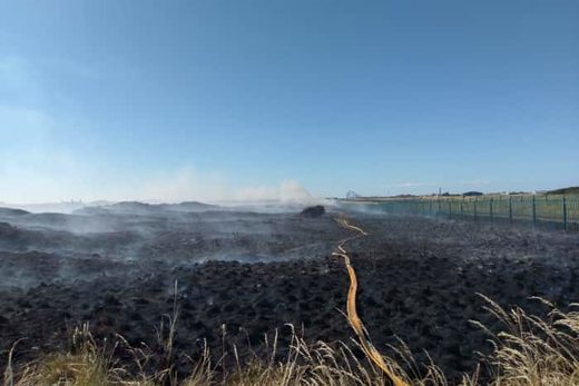 Large fire at the dunes in St Annes.