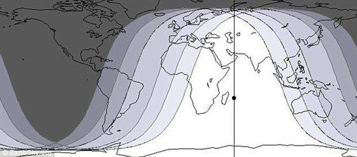 lunar eclipse map