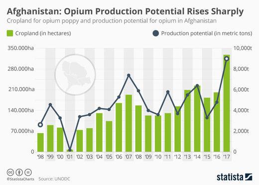 afghanistan opium chart