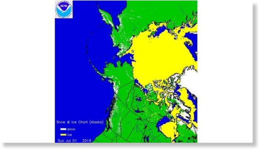 Snow and Ice Cover in the Arctic on July 1.