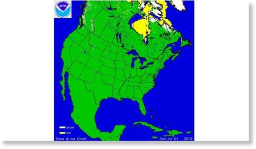 North American snow and ice cover